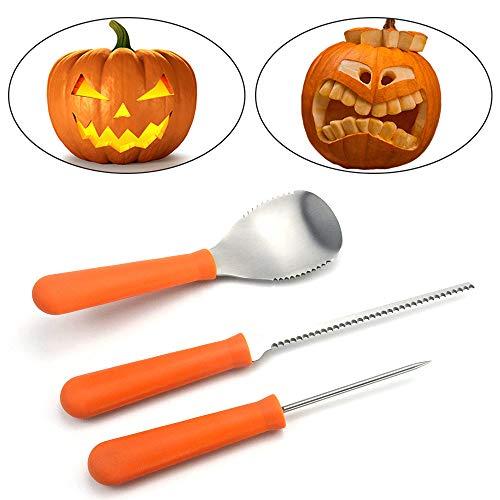Promisy Premium 3 Piece Halloween Pumpkin Carving Kit,