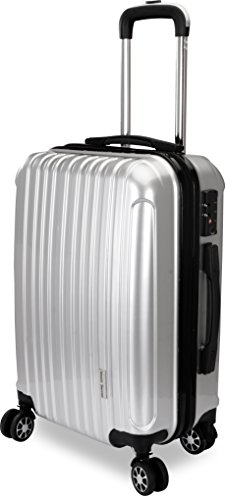 20-Inch ABS Lightweight Carry On Spinner Luggage – Silver – Utopia Home