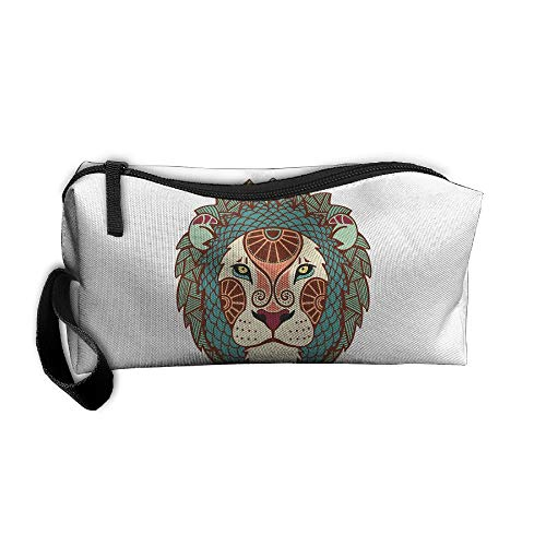 ion Art Pattern Pen Holder Clutch Wristlet Wallets Purse Portable Storage Case Cosmetic Bags Zipper ()