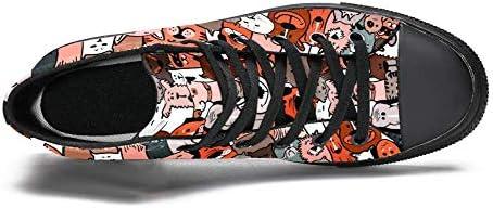TIZORAX DEYYA Hoge Top Sneakers voor Mannen Doodle Honden en Katten afdrukken Mode Lace up Canvas Schoenen Casual wandelen schoen