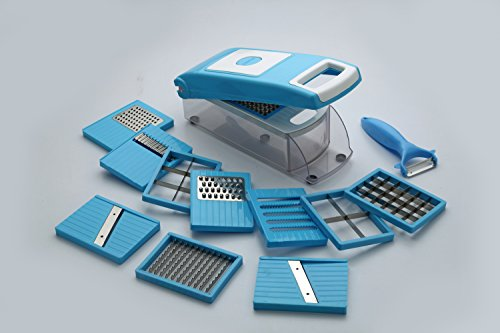 Floraware 12-Piece Unbreakable Kitchen Dicer, Blue