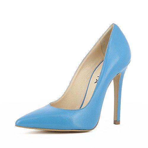 Lisa Cuir Escarpins Shoes Femme Bleu Evita Lisse pBxzwxq