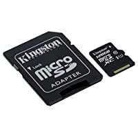 Kingston Digital Select 128GB microSDXC Class 10 UHS-I 80MB/s R 10MB/s W Flash Memory Card with Adapter