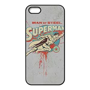 Superman Man of Steel iPhone 5 5s Cell Phone Case Black Fantistics gift SJV_864531