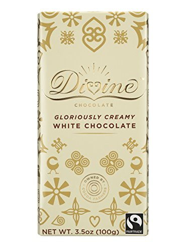 (Divine Chocolate Bar, White Chocolate, 3.5 Ounce (Pack of)