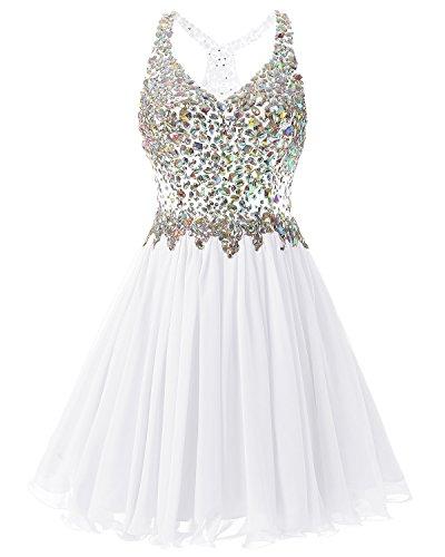 n Blanco La De Vestido Regreso Gasa De Noche A Corta La De Fiesta Bridesmay Partida Por Casa Graduaci Vestido De De qwRZE7x4