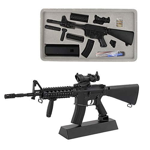 Fantarea 1:3 Metal Alloy Guns Model Figures Guns Miniature Model Guns Figurine Toys Model Gun,Party Supplies Toy, Military Imitate Toys ,Army Collection for Collector Fit for M4A1 Carbine