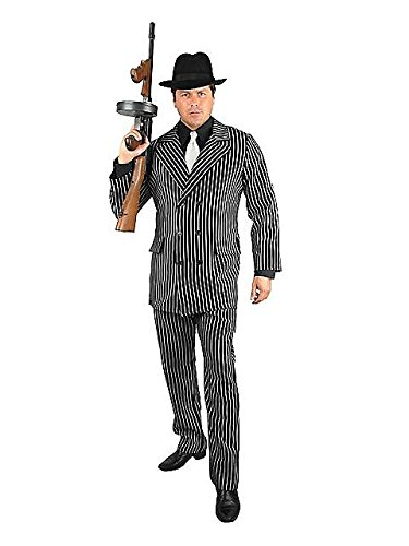 Gangster Adult Costume - Plus Size 3X (1920s Gangster Clothing)