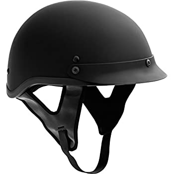 Fuel Helmets SH-HHFL65 HH Series Half Helmet, Flat Black, Medium