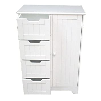 tongue and groove bathroom storage cabinet white amazon co uk rh amazon co uk