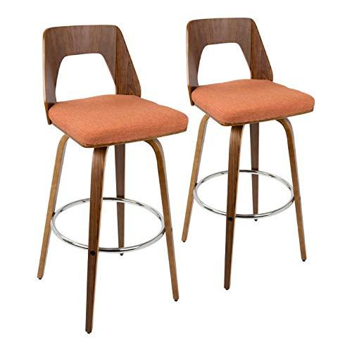 30 in. Barstool in Orange - Set of 2