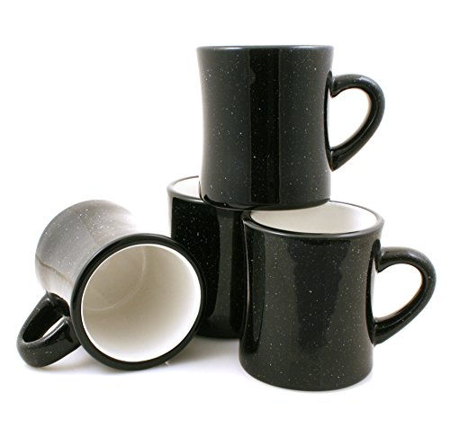 Marble Creek Ceramic Diner Campfire Mugs 10oz Set Of 4