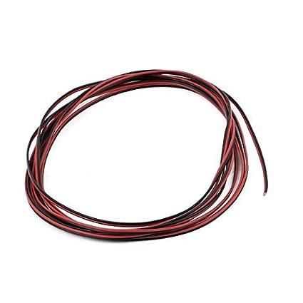 eDealMax 28 AWG cubierta de PVC exterior con aislamiento eléctrico cable negro Rojo 3 Metros - - Amazon.com
