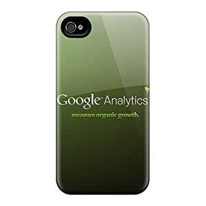 New DustinHVance Super Strong Google Analytics Tpu Case Cover For Iphone 4/4s