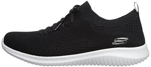Skechers womens Ultra Flex - Statements Sneaker, Black/White, 6 US