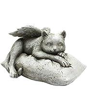 Angel Pet Cat Memorial Statue Grave Marker Tribute, Resin Craft, Garden Craft Sculpture Decor Ornament