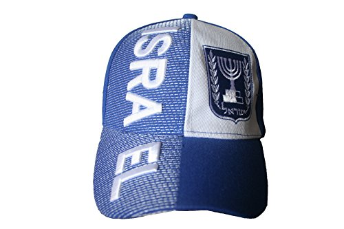 Israel Blue White With Word Embossed Hat Cap .. .. New