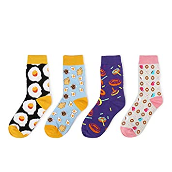 Amazon.com: Gold Happy Sweet Food Avocado Fruit/Egg/Ice Cream Harajuku Socks Art Abstract Oil Painting Socks Women Creative Cute Calcetines: Kitchen & ...
