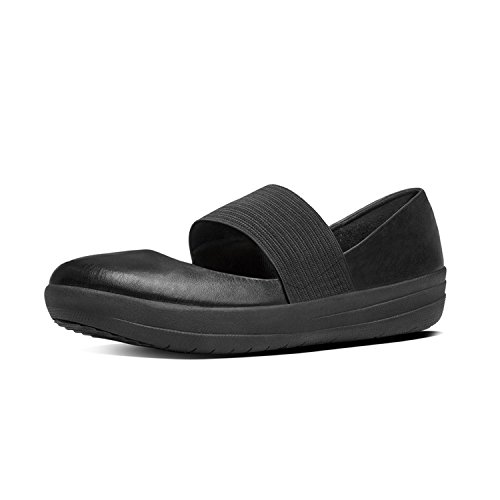 Fitflop F-Sporty Mary Jane, Merceditas para Mujer, Negro Negro (Black)