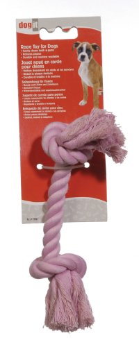72365 Dogit Cotton Rope Bone, Pink, Small ()