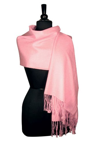 100% Pashmina PINK Shawl Wrap. Woman's Scarf.