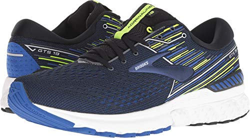 Brooks Men's Adrenaline GTS 19 Black/Blue/Nightlife 11.5 D US