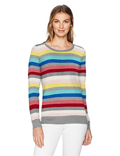 Amazon Essentials Women's Lightweight Crewneck Sweater, Multi, XX-Large (Best Fair Isle Sweaters)