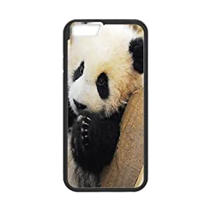 Case for IPhone 6S, There's too Much Cuteness in a Panda Case for IPhone 6S, Bloomingbluerose Black
