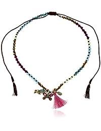 "Betsey Johnson ""Boho Betsey"" Mixed Charm and Bead Long Adjustable Pendant Necklace, 14"""