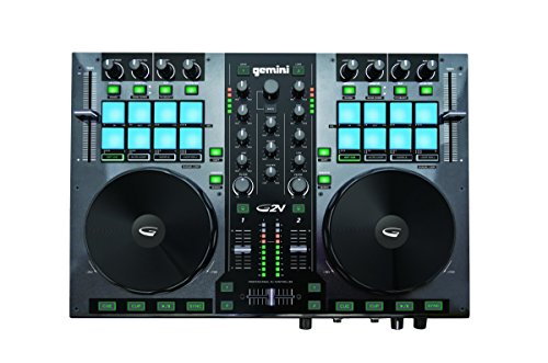 Gemini G2V 2 Channel Virtual DJ Controller - Gemini 3 Channel Dj Mixer