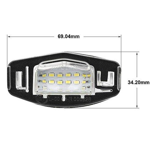 2pcs Car License Plate Light For Honda Civic Pilot Accord