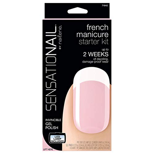 Sensationail Gel Polish Starter Kit, French Manicure Sheer Pink (Best French Manicure Set)