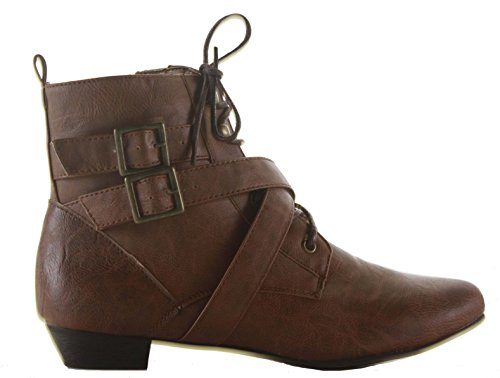 Flat Faux On Leather Booties Ladies Ankle Chelsea Low Heel 5 Pull Womens Shoes Style Boots Pixie Size Tan g1vqfwv5z