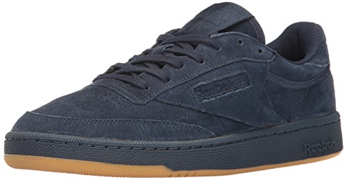 (Reebok Men's Club C 85 TG Fashion Sneaker, Collegiate NITE Navy/Gum, 13 M US )