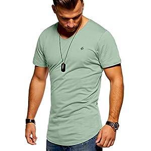 41IXlSUbc1L. SS300  - JACK-JONES-Herren-T-Shirt-Kurzarmshirt-Oversize-Longshirt-Basic-V-Neck