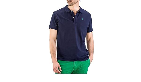 Piel de Toro Pique básico Regular fit Polo, (Azul Marino 01), X ...