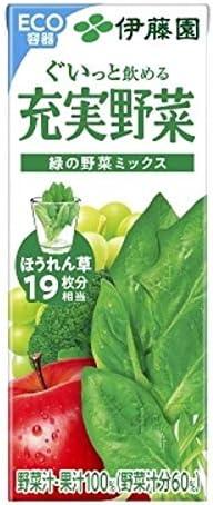 伊藤園 充実野菜 緑の野菜ミックス 紙パック 200ml × 48本