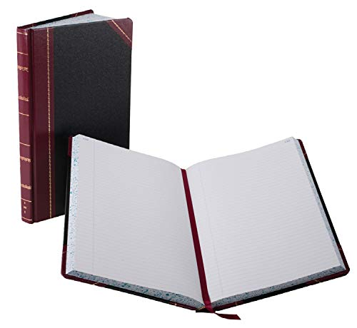 Boorum Pease Record - Boorum & Pease 9300R Record/Account Book, Black/Red Cover, 300 Pages, 14 1/8 x 8 5/8