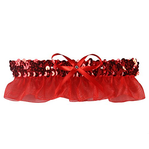 Ivy Lane Design 20-2021-0010 Evelyn Garter with White (Glitzy Red Sequin)