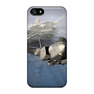 For Iphone Case, High Quality Jet Taking Off From Aircraft Carrier For Iphone 5/5s Cover Cases wangjiang maoyi