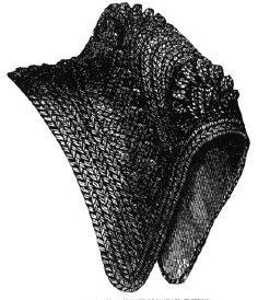 [1870 Black Split Straw Bonnet Sewing Pattern] (Black Costumes Bonnet)