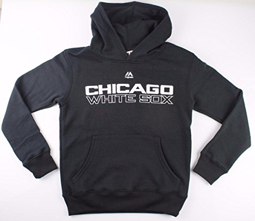 Majestic MLB Youth Team Wordmark Pullover Hooded Fleece (Youth Small 8, Chicago White Sox)