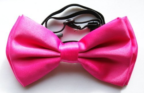 Brand New Awesome SILK FEEL ''Hot Pink'' TUXEDO BOW TIE