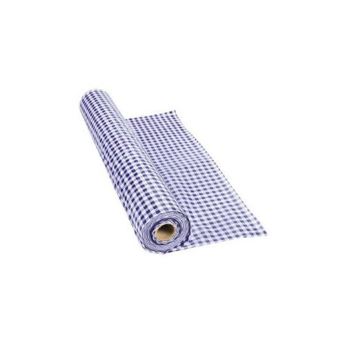 Fun Express - Purple Gingham Tablecloth Plastic Roll 100FT X 40 Inches -