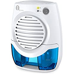 1byone 400ml Electric Mini Dehumidifier, Compact and Portable for Damp Air, Mold, Moisture in Home, Kitchen, Bedroom, Basement, Caravan, Office, Garage - Auto Shut Off
