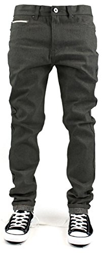 2b1ed05a Kayden K Selvedge Tape Roll Up Tapered Fit Men's Raw Denim Jeans ...