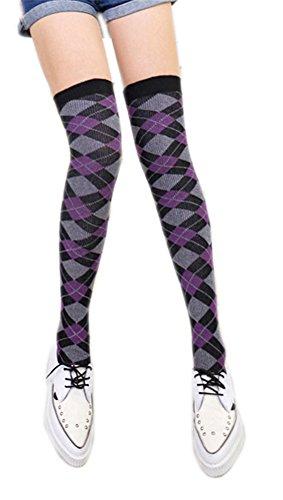 AnVei-Nao Women's Girls Thin Over Knee Knit Bandage Leg Warmers Socks Leggings ()
