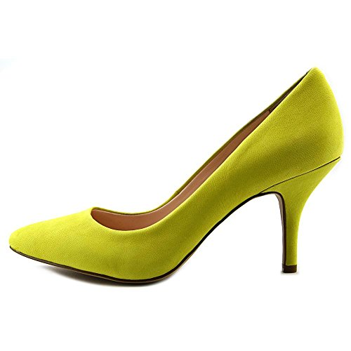 Inc Internationale Concepten Dames Zitah Leren Gesloten Teen Klassieke Pumps Chartreuse