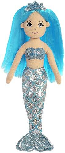 (Aurora World 33212 Sea Shimmers Sapphire The Mermaid Plush Toy (Medium, Blue/Peach/Silver))