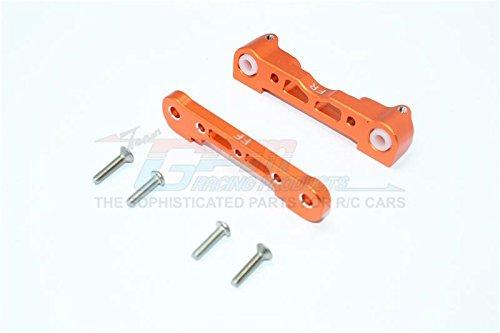 Arrma Kraton 6S BLX (AR106005/106015/106018) Upgrade Parts Aluminum Front Lower Suspension Mount - 1Pr Set Orange ()